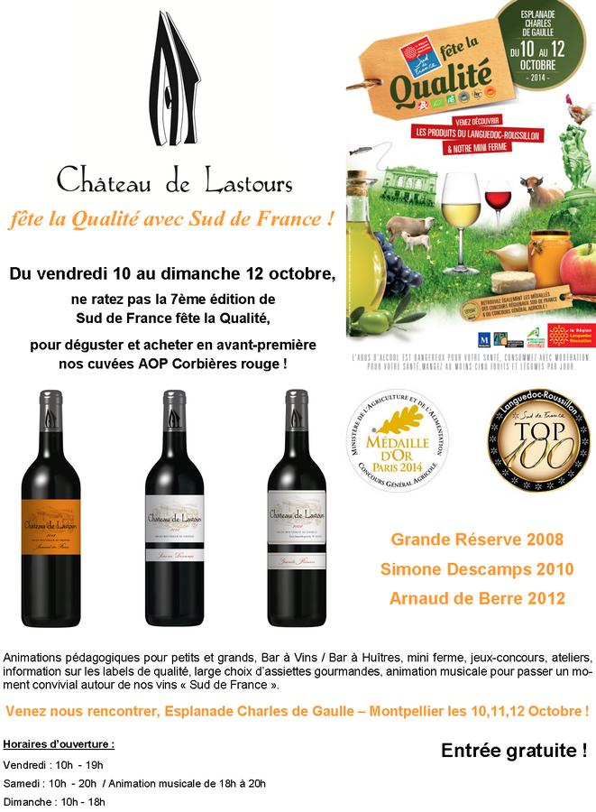 Château de Lastours fête qualité Montpellier 2014