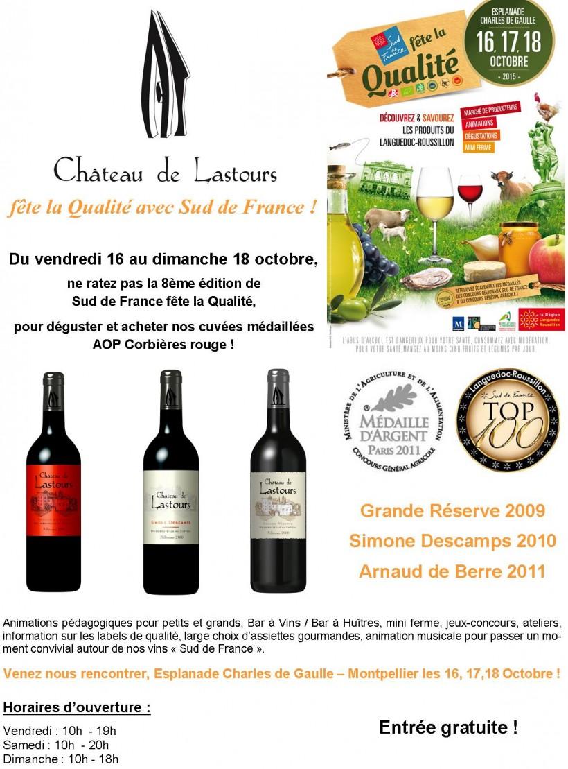 Château de Lastours fête Qualité Sud de France Oct 2015