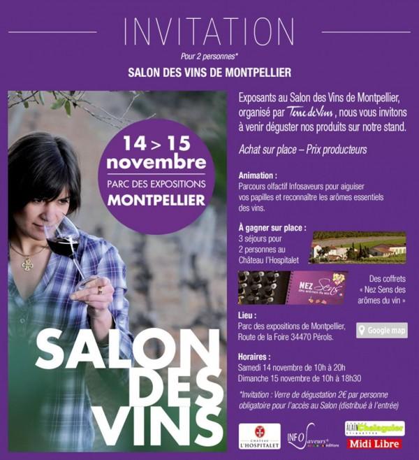 Château de Lastours invitation terre de vins 2015