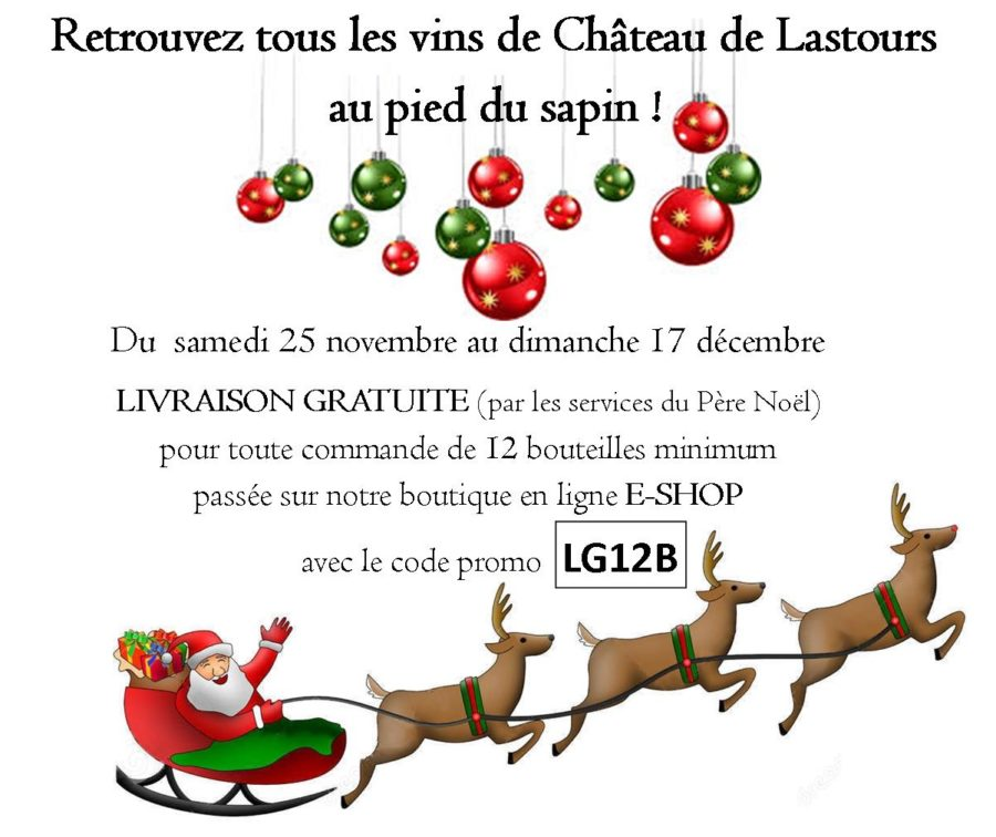 chateau de lastours e-shop - OP livraison gratuite noël 2017