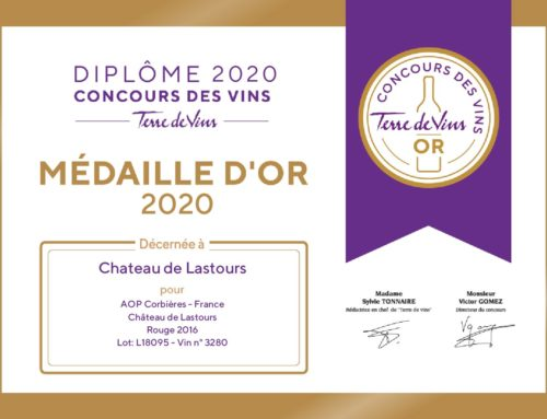 Château de Lastours Rouge 2016 received the gold medal